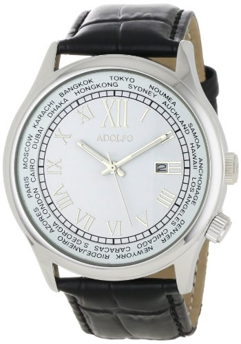 ADOLFO Men's 31006C World Timer Calendar Watch