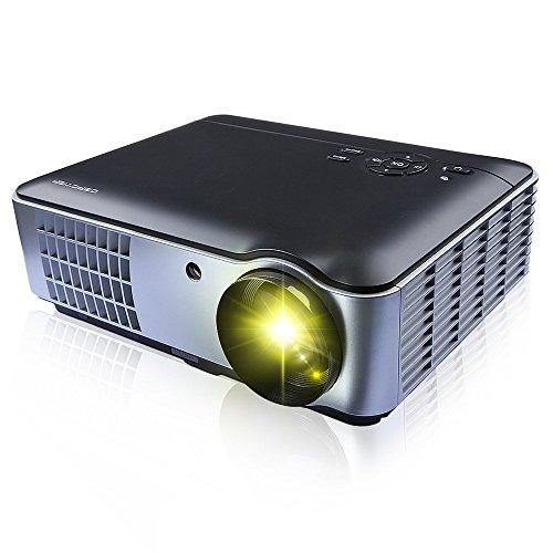 (1280 * 800, 2800 Lumen) RD-806 Supporto HD Proiettore con 2*HDMI and 2*USB Videoproiettore (Nero)