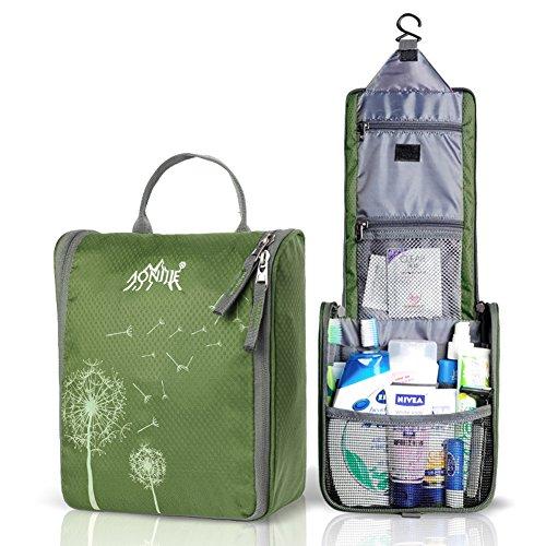 aomagic-anti-tear-nylon-fabric-cosmetic-bag-large-capacity-travel-toiletry-bag-army-green