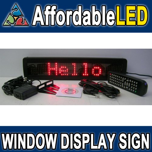 """Goledgo Ultra Red Programmable Scrolling Led Message Marquee Sign (Size: 4""""H X 17""""L X 1""""D)"""