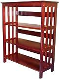 Polaris 36 inch 3-Tier Bookcase, CHERRY
