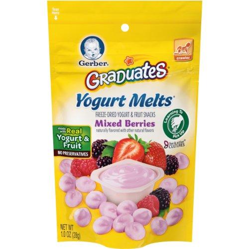 Gerber Graduates Yogurt Melts, Mixed Berry, 1 Ounce (Pack of 7) (Organic Yogurt Bite Gerber compare prices)