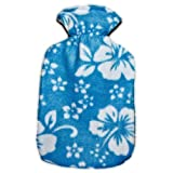 Warm Tradition Sky Blue Orchid Fleece Hot Water Bottle Cover - COVER ONLY- Made in USA