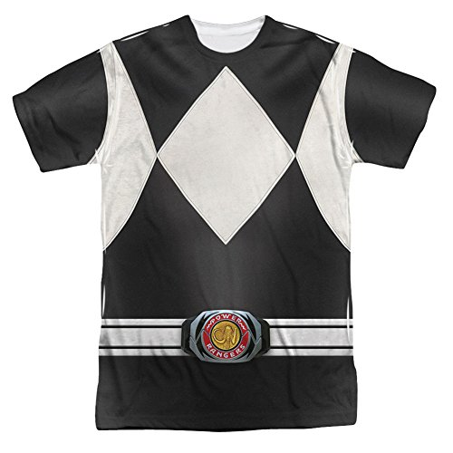 [Power Rangers Children's Live Action TV Series Gray Costume Adult Front Print T] (Yellow Power Ranger Costumes Child)