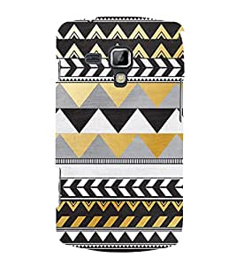 Zig Zag Pattern Design 3D Hard Polycarbonate Designer Back Case Cover for Samsung Galaxy S Duos 2 S7582