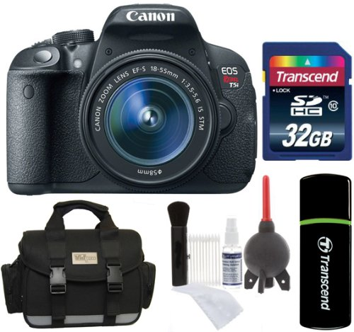 Canon Eos Rebel T5I D-Slr Camera With Ef-S 18-55Mm F/3.5-5.6 Is Stm Lens + 32Gb Card + Reader + Case + Accessory Kit