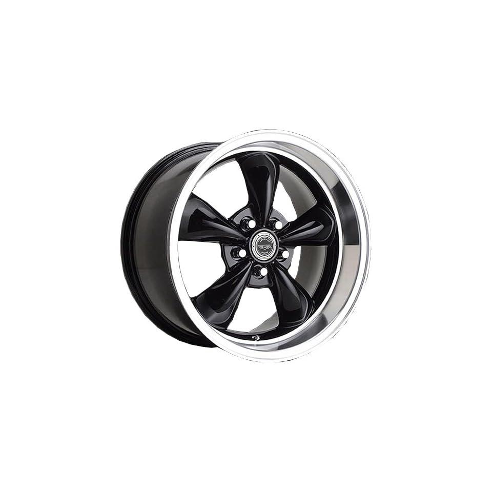 American Racing Custom Wheels AR105 Torq Thrust M Gloss Black Wheel With Machined Lip (17x10.5/5x114.3mm, +28mm offset)