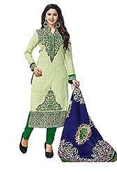 RK Fashion Womens Cotton Un-Stitched Salwar Suit Dupatta Material ( YOGESH-MCM-LIFESTYLE-SANA-152-Green-Free Size)