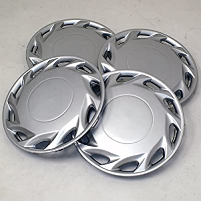 TuningPros WSC2-055S14 Hubcaps Wheel Skin Cover Type 2 14-Inches Silver Set of 4