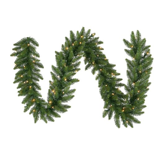 Vickerman Camdon Garland With 50 Led Warm White, 9-Feet By 12-Inch