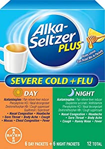Alka-Seltzer Plus Severe Cold and Flu Day/Night Powder, 12 Count