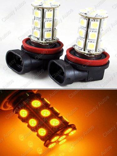 Classy Autos H11 Led Bulbs Yellow 24-Smd 5050 Drl Fog Light Headlight (A Pair)