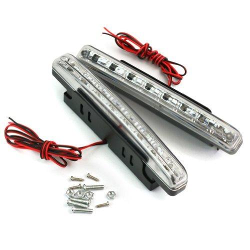 2x Voiture DRL 12V 8 LED Lights Feux De Jour Diurne Lampe Car Day Running Light