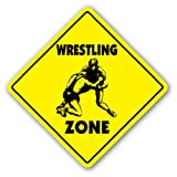 WRESTLING ZONE Sign novelty gift sport wrestler