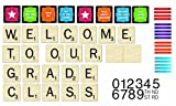 Eureka Scrabble Welcome to Our Class Mini Bulletin Board Set