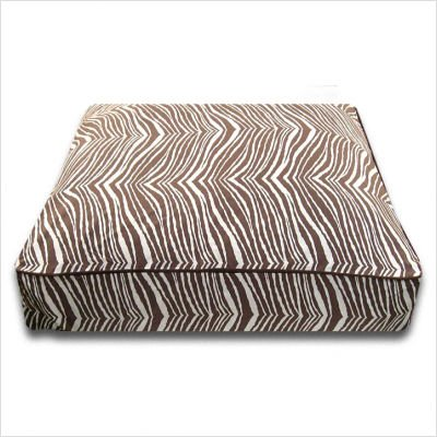 Rectangle Dog Bed in Brown Zebra