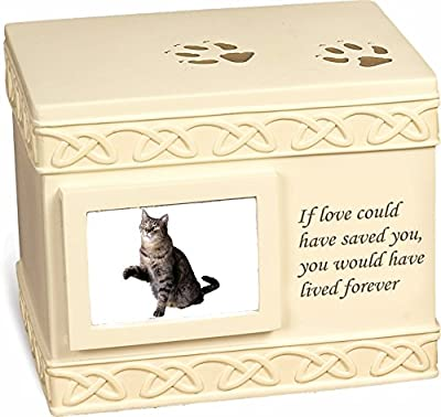 """Pet Urn Memorial """"If Love Could Have Saved You..."""" - Bottom Opening"""