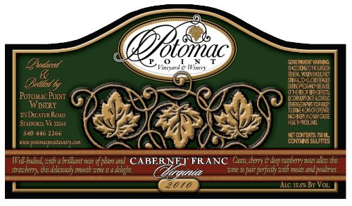 2010 Potomac Point Cabernet Franc 750 Ml