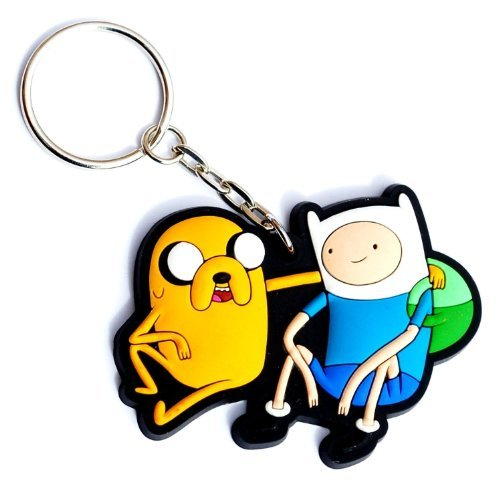 Adventure Time Finn and Jake 3-d Rubber Keychain