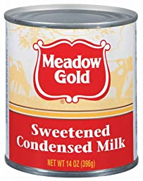 Meadow Gold Sweetened Condensed Milk, 14 Ounce (Pack of 24)