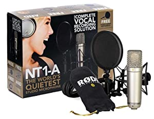 rode nt1a anniversary vocal condenser microphone package musical instruments. Black Bedroom Furniture Sets. Home Design Ideas