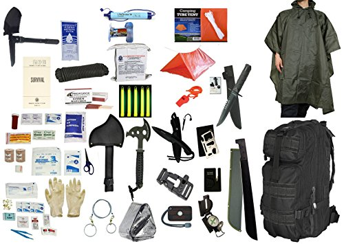 4 Person Supply 3 Day Emergency Bug Out S.O.S. Food Rations, Drinking Water, LifeStraw Personal Water Filter, First Aid Kit,