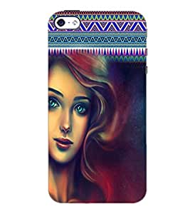 PrintDhaba Beautiful Girl D-5623 Back Case Cover for APPLE IPHONE 4 (Multi-Coloured)