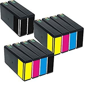 Inktoneram Remanufactured Ink Cartridges Replacement for 676XL (4x Black, 2x Cyan, 2x Magenta, 2x Yellow, 10-Pack) by JC Berg Inc
