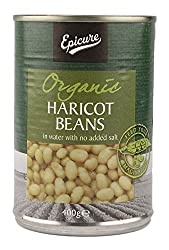 Epicure Haricot Beans in Water, 400g