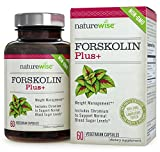 NatureWise Pure Forskolin Plus+ for Weight Loss, Includes Chromium for Healthy Blood Sugar Support, 250 mg, 60 Vcaps