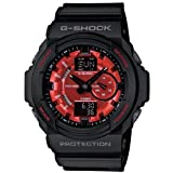 G-SHOCK BLACK BAND W/RED FACE GA-150MF-1A MENS