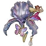 Kirks Folly Fairy Iris Pin (Goldtone/Purple)