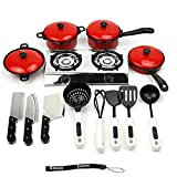 Estone 1Set Kids Play House Toy Kitchen Utensils Pots Pans Cooking Food Dishes Cookware