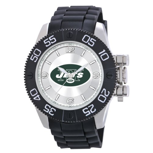 Game Time Men&#039;s NFL-BEA-NYJ Beast New York Jets Round Analog Watch at Amazon.com
