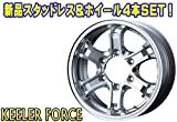 15インチ 4本セット スタッドレスタイヤ&ホイール ハンコック(HANKOOK) WINTER RW06 195/80R15 ウェッズ