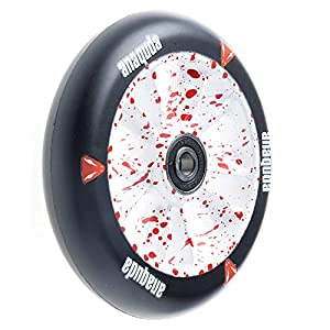 Anaquda Engine Stunt Scooter Wheel 110 mm and Abec9 Ball Bearings RS White / Blood