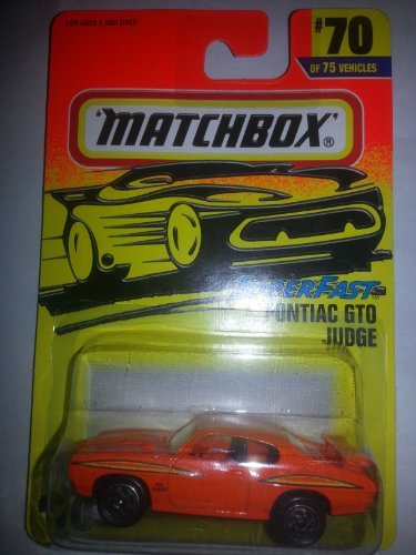 "Matchbox #70 ""SUPERFAST"" Pontiac GTO Judge 75 Challenge One of 10,000"