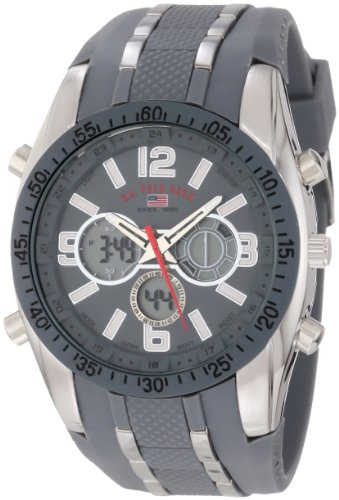 U.S. Polo Assn. Sport Men's US9283 Grey Analog-Digital