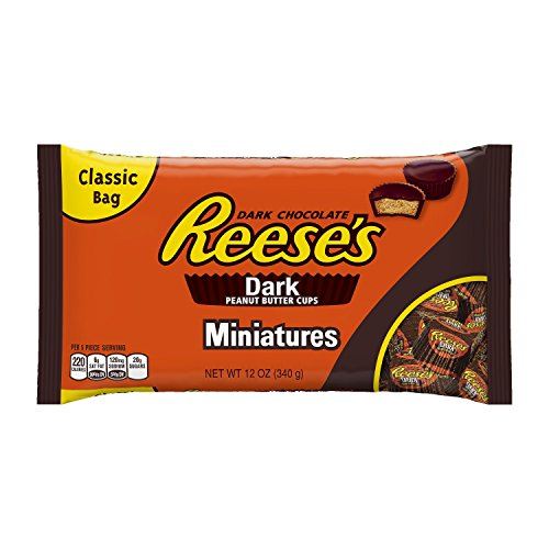 reeses-dark-chocolate-peanut-butter-cups-miniatures-12-ounce-bag-pack-of-4