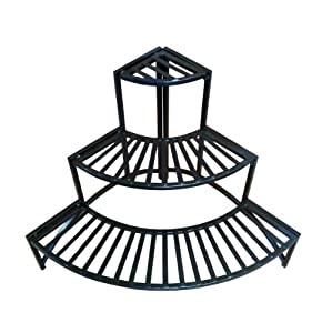Pangaea Home and Garden Folding Corner Three Layer Iron Plant Stand