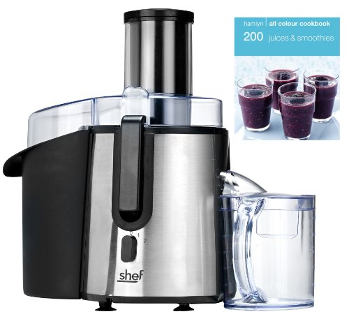 Shef Professional Powerful Whole Fruit Juicer 850W Motor with Juice Jug and Cleaning Brush FREE JUICES AND SMOOTHIES BOOK WORTH £4.99