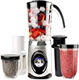 Andrew James 4 in 1 Multifunctional 1 Litre Smoothie Maker, 1.5 litre Blender, Grinder And Juicer