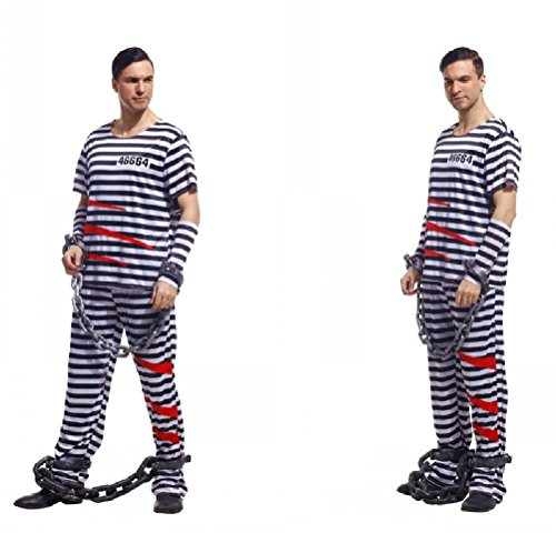 Ponce Halloween Cosplay Dress Clothes Adult Prisoners Serving Prison Inmates Serving
