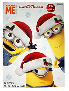 2016 Christmas Advent Holiday Countdown Calendar with 24 Milk Chocolates (Despicable Me Minions)