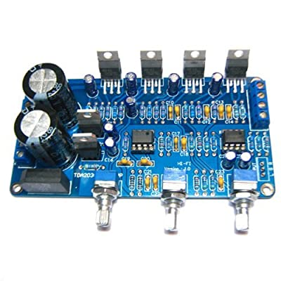 SMAKN® TDA2030A 2.1 Stereo Audio Power Amplifier Finished Board