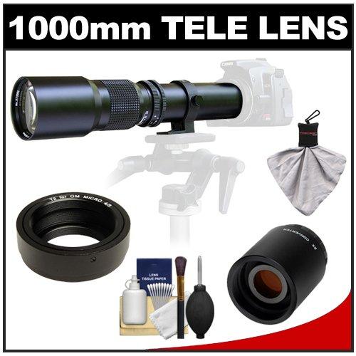 Samyang 500Mm F/8.0 Telephoto Lens With 2X Teleconverter (=1000Mm) For Olympus Om-D Em-5, Pen E-P2, E-P3, E-Pl2, E-Pl3, E-Pm1 & Panasonic Micro 4/3 Digital Cameras