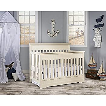 Dream On Me Chesapeake 5-In-1 Convertible Crib, French White