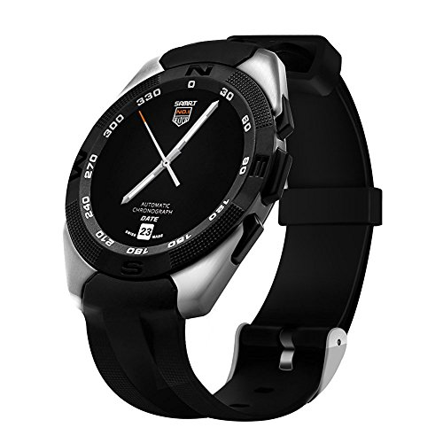 Padgene® Montre Connectée Sports GPS Bluetooth pour Smarphone Android IOS, Gris