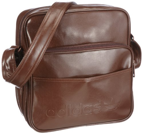 Adidas Schultertasche Sir Vintage, strong brown f11, 30 x 29 x 11 cm, 9 liters, W61995, 1.00 euro/100 ml
