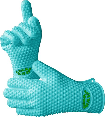 Great Features Of VRP Heat Resistant Silicone BBQ Gloves - Best Protective Insulated Oven, Grill, Ba...